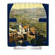 Assisi Italy Shower Curtain by Georgia Fowler