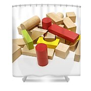 Assorted Building Blocks Shower Curtain