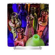 Assorted Colored Bottles Shower Curtain