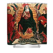Assumption Of Mary With Sts Minias And Julian Shower Curtain