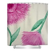 Aster In The Pink Shower Curtain
