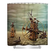 Asterisk Shower Curtain