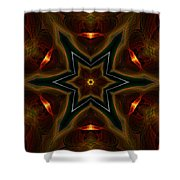 Asteroid Impact Shower Curtain