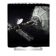Asteroid Mining And Processing Shower Curtain