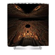 Asteroid Rendezvous  Shower Curtain