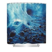 Asteroid River Shower Curtain