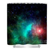 Asteroid Zips By Orion Nebula Shower Curtain