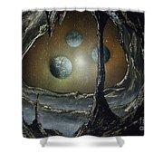 Asteroid's Eye Shower Curtain