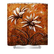 Asters 007 Shower Curtain
