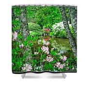 Asticou Azalea Garden Shower Curtain