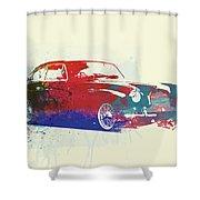 Aston Martin Db2 Shower Curtain by Naxart Studio