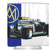 Aston Martin Hot Rod Shower Curtain