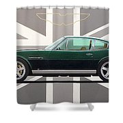 Aston Martin V8 Vantage Shower Curtain