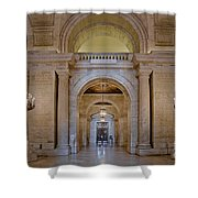 Astor Hall At The New York Public Library Shower Curtain