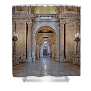 Astor Hall New York Public Library Shower Curtain by Susan Candelario