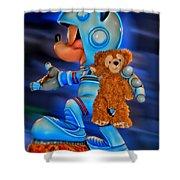 Astronaut Training Bear Shower Curtain