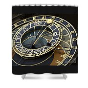 Astronomical Clock Shower Curtain