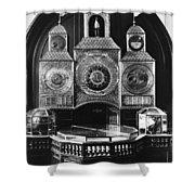 Astronomical Clock, C1750 Shower Curtain