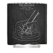 Astronomical Telescope Patent From 1943 - Dark Shower Curtain