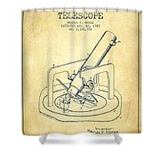 Astronomical Telescope Patent From 1943 - Vintage Shower Curtain