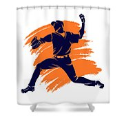 Astros Shadow Player2 Shower Curtain