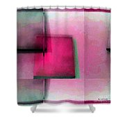 Asymmetrical Symmetry Shower Curtain