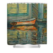 At Boat House 2 Shower Curtain
