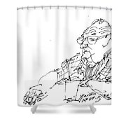 At Coffee Table Shower Curtain