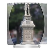 At Ease Soldier Shower Curtain