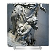 At Her Feet In A Garden Allegory Shower Curtain