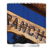At Home On The Ranch Shower Curtain