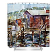 At Monterey Wharf Ca Shower Curtain
