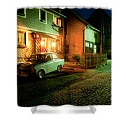 At Night In Thuringia Village Germany Shower Curtain