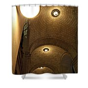 At Night Outside Union Station Shower Curtain