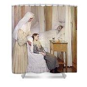 At Notre-dame Du Perpetuel Bon Secours Hospital Shower Curtain
