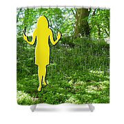 At One With Nature Shower Curtain