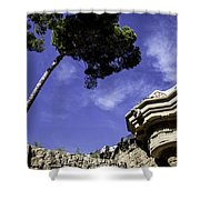 At Parc Guell In Barcelona - Spain Shower Curtain