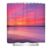 At Peace At 16x9 Crop Shower Curtain