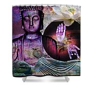 At Peace Shower Curtain by M Montoya Alicea
