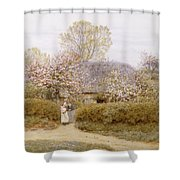 At School Green Isle Of Wight Shower Curtain
