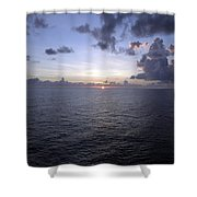 At Sea -- A Sunrise Begins Shower Curtain