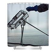 At Sunrise, Quahogger Bill Bergan Shower Curtain