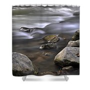 At The Banias River 3 Shower Curtain