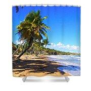 At The Beach Palmas Del Mar Shower Curtain