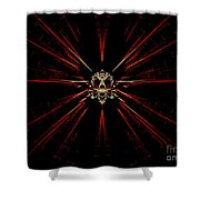 At The Core Shower Curtain by Renee Trenholm