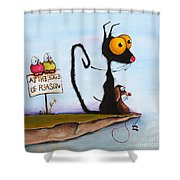 At The Edge Of Reason Shower Curtain