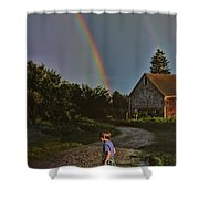 At The End Of A Rainbow Shower Curtain