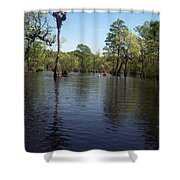 At The End Of The Canoe Shower Curtain
