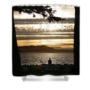 At The End Of The Day Shower Curtain