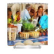 At The Farmer's Market Shower Curtain